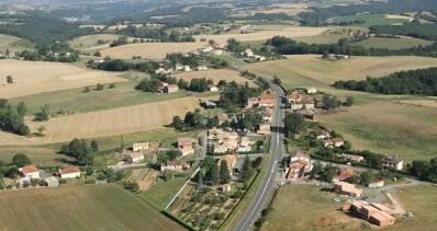 Prise de vue aérienne sur le hameau de Foncouverte à Bellegarde-Marsal - 2010