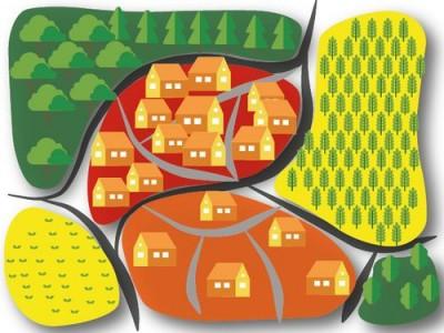 Illustration de l'organisation de l'espace par le PLUi