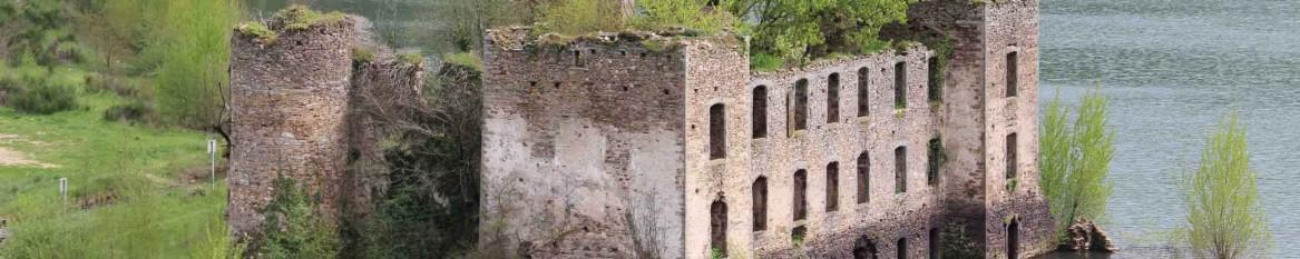 Ruines du château de Razisse à Teillet