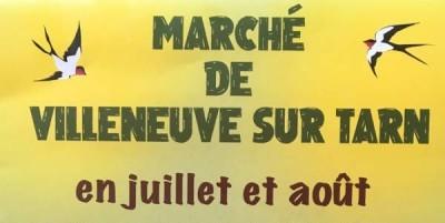 Marché d'été à Villeneuve/Tarn
